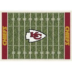 Kansas City Chiefs Football Field Rug