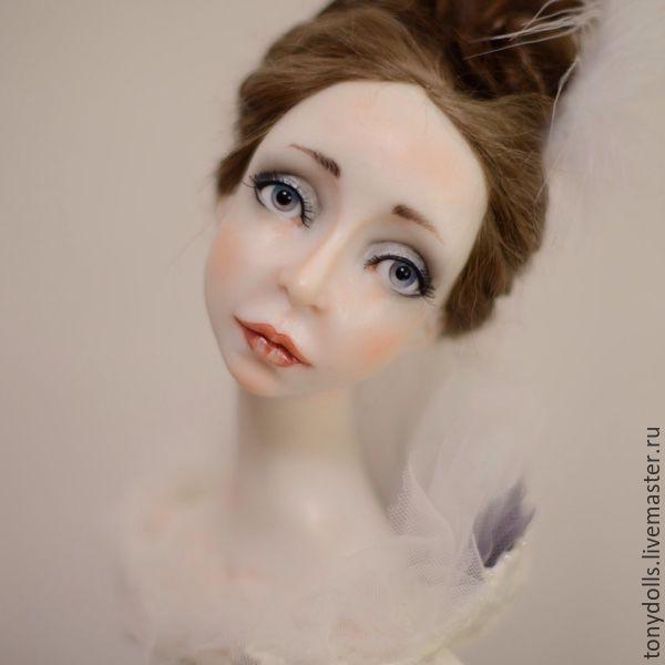 Купить Белый лебедь - авторская ручная работа, авторская кукла, ручная работа, коллекционная кукла