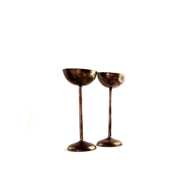 Vintage candle holders. Candlesticks. by Underlyingsimplicity