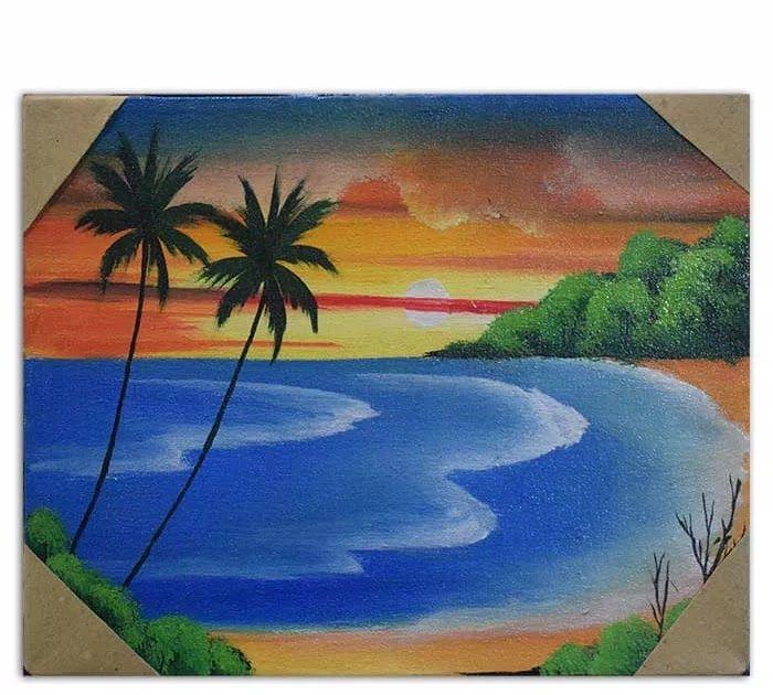 16 Contoh Gambar Pemandangan Di Styrofoam Lukisan Pemandangan Pantai Download Styrofoam Kotak Makanan Beracun Biluping Di 2020 Painting Lukisan Cat Air Lukisan