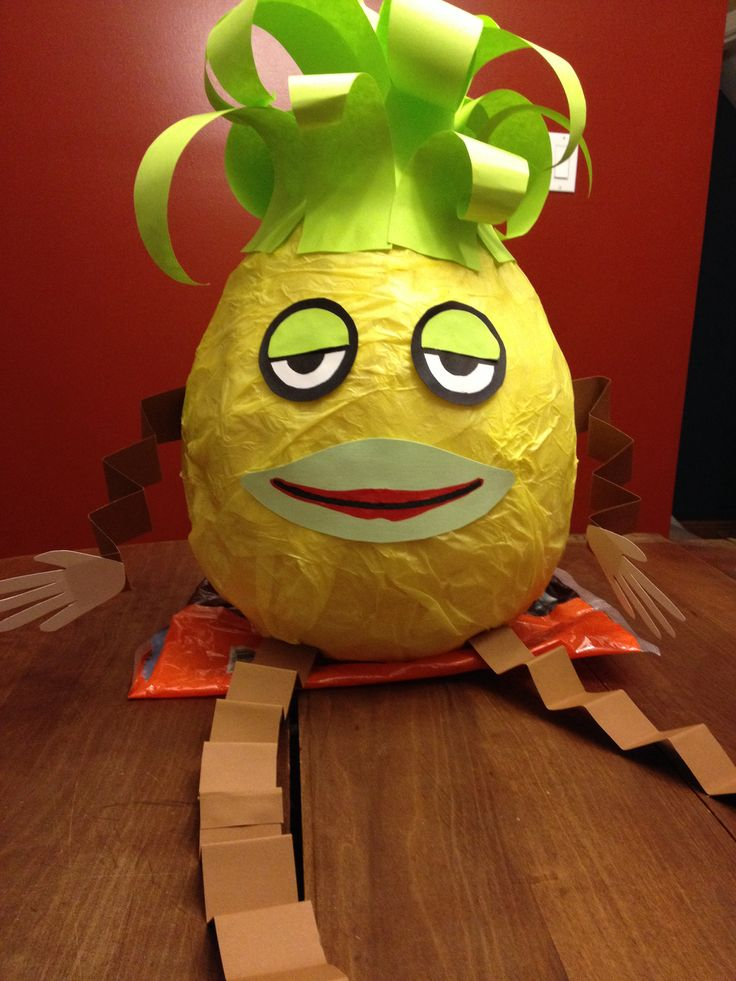 """Ananas"" piñata from Telefrancais for francophone celebration at work"