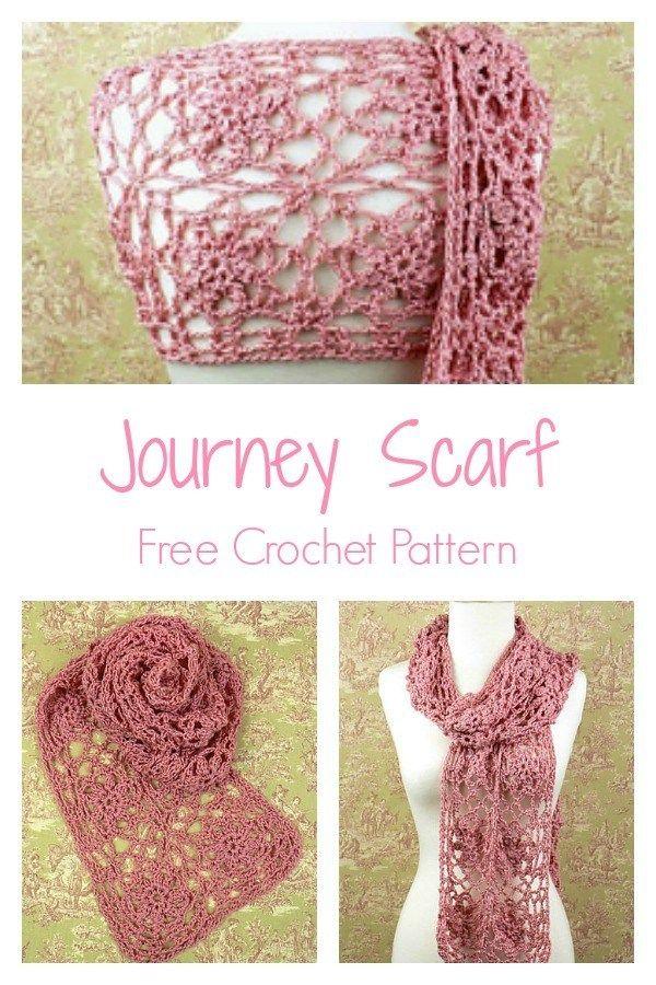 Journey Scarf Free Crochet Pattern