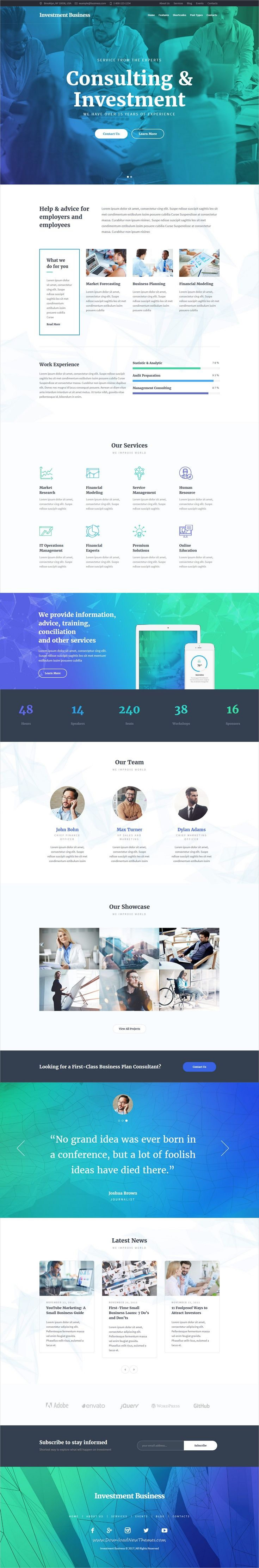 Investment Business is a powerful responsive #WordPress theme for #consulting and #financial advisory companies website download now➩ https://themeforest.net/item/investment-business-finance-investment-consulting-wordpress-theme/19375018?ref=Datasata