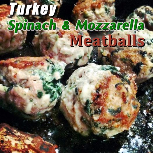Turkey, spinach and mozzarella meatballs by my favorite blogger!