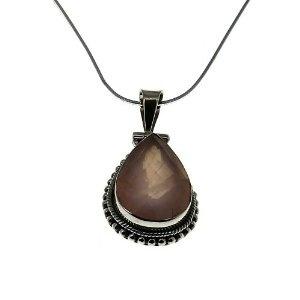 Idée cadeau femmes - Chaîne pendentif Argent et Quartz rose: ShalinCraft: Amazon.fr: Bijoux