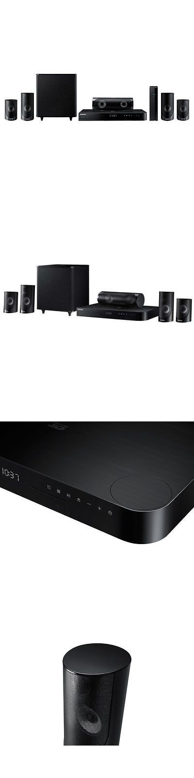 Home Theater Systems: Samsung Ht-J5500w 5.1 Channel 1000-Watt 3D Blu-Ray Home Theater System BUY IT NOW ONLY: $324.36