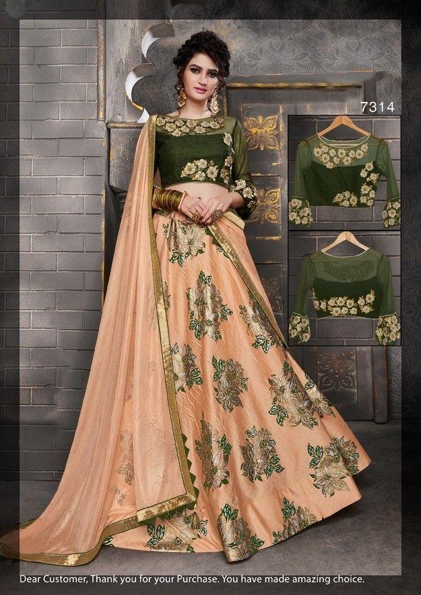 86c8d9ad50 Awesome Peach & Green Lehenga Choli,New design lehenga choli,Wedding Lehenga  Choli