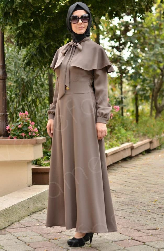 Abaya Turkish veil. Love the collar detail :)