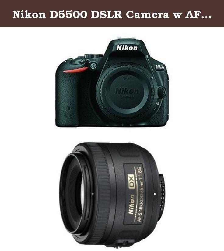 Nikon D5500 DSLR Camera w AF-S DX Nikkor 35mm F1.8G Lens Bundle. DPReview Recommended Bundle. Nikon D5500 DX-format Digital SLR Body (Black). Nikon 35mm f/1.8G Auto Focus-S DX Lens for Nikon Digital SLR Cameras - Fixed. Recommended in Kids.
