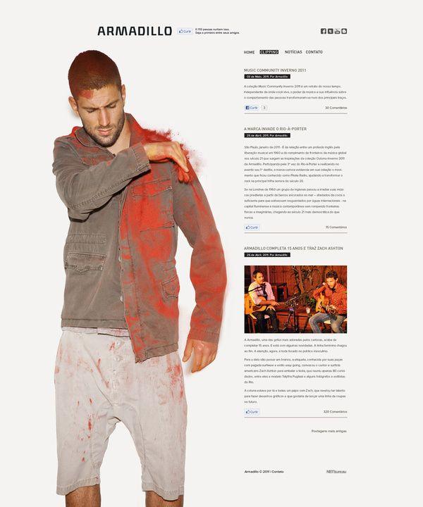 Armadillo 2011 #web design, nice elegant minimalistic web design