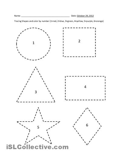 Printable Shape Tracing Worksheets