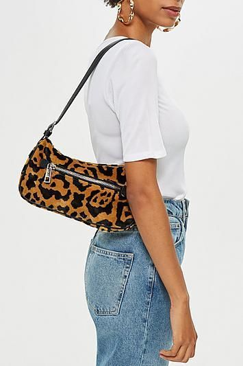 668466fdd5a3a Topshop Kenya Leopard Print Shoulder Bag ( 48) This gives us Carrie  Bradshaw vibes—and we can t get enough.