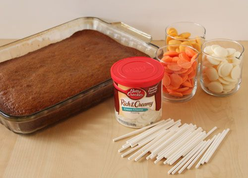 How to Make Candy Corn Cake Pops: Gather Your Ingredients
