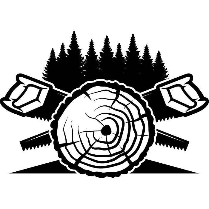 Lumberjack Logo 7 Saw Blades Tool Chop Forrest Tree Slice Trunk Stump Woods Timer Woodcutter Svg Eps Png Vector Cr Christmas Drawing Artwork Unique Artwork
