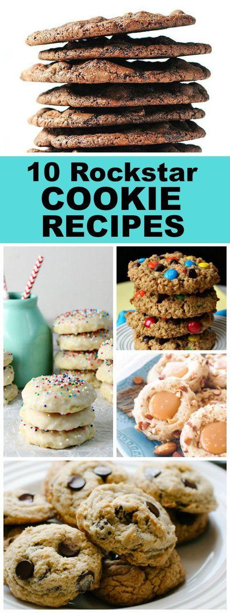 10 Rockstar Favorite Cookie Recipes: Monster Cookies, Pecan Sandies Cookies, Super Soft Chocolate Chip Cookies, Italian Ricotta Cookies and more!