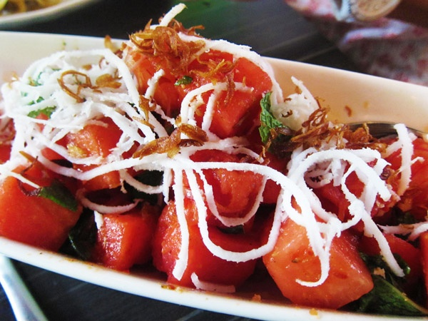 Coconut and Watermelon Salad