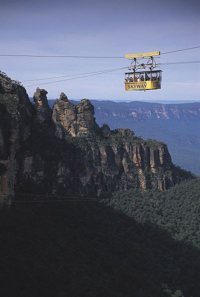 Scenic World, Katoomba, Blue Mountains, NSW. This is the old one. Today it has been replaced by a German engineering marvel I believe. Have travelled on both. Love how you can now get off on the other side and walk to the Three Sisters.