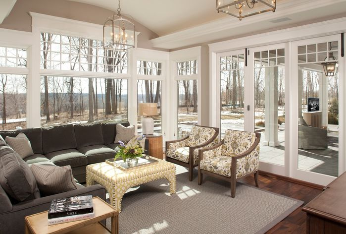 Sunroom Contemporary Living Room Photos By Hendel