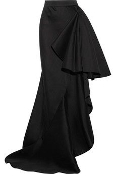 Lanvin Ruffled wool and silk-blend maxi skirt | NET-A-PORTER