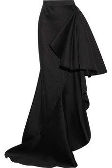 Lanvin Ruffled wool and silk-blend maxi skirt | NET-A-PORTER