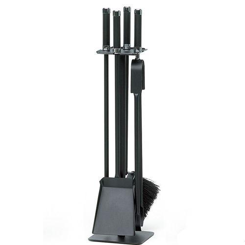 Serviteur cheminée acier 4 accessoires (noir ou gris) Reignoux