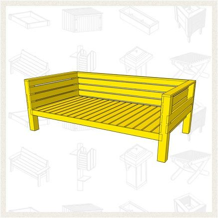 build an outdoor daybed free project plan the daybed fits a twin mattress pad