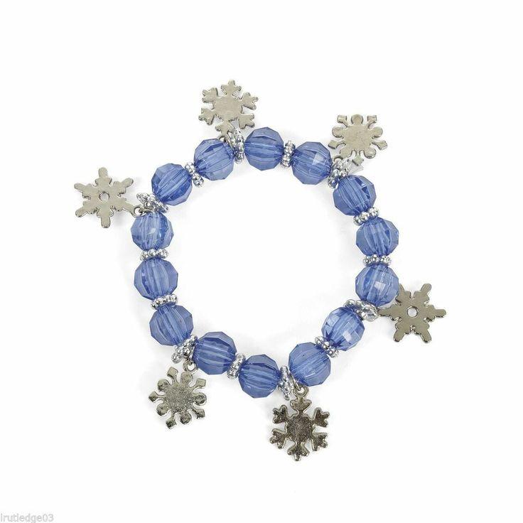 Disney Frozen Birthday Party Favors/Gifts Snowflake Bracelets (12) Ships Fast!! #Disney