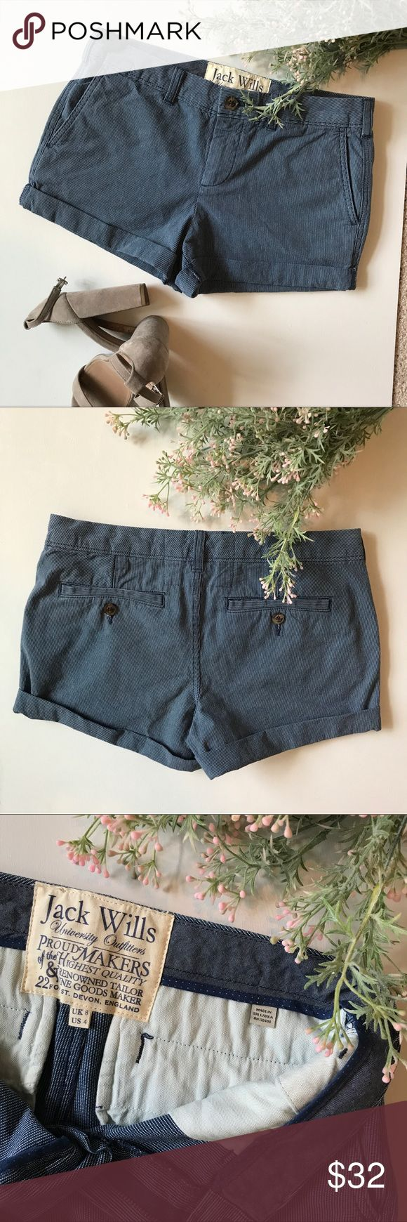 Jack Wills University Outfitters Shorts, size 4 These Jack Wills light weight shorts are perfect for the summer heat! Excellent condition. Jack Wills Shorts
