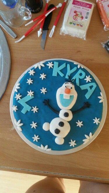 Frozen taart voor Kyra