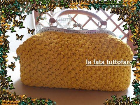 Tutorial: borsa in tulle con clic/clac - YouTube