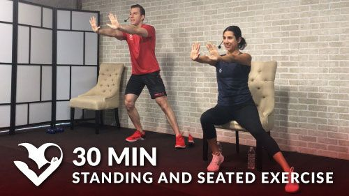 30 minute chair workout for seniors wedding covers hire portsmouth low impact difficulty enjoy this routine to help you min exercise older people elderly seated exerci