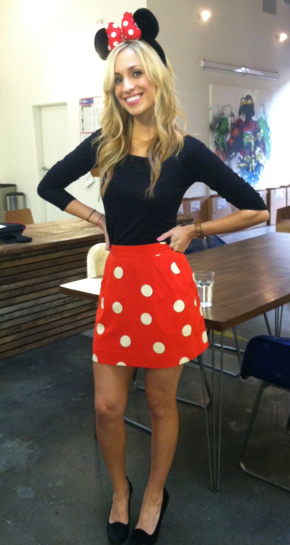 Work appropriate Minnie Mouse costume... i would wear red pants with spots though...