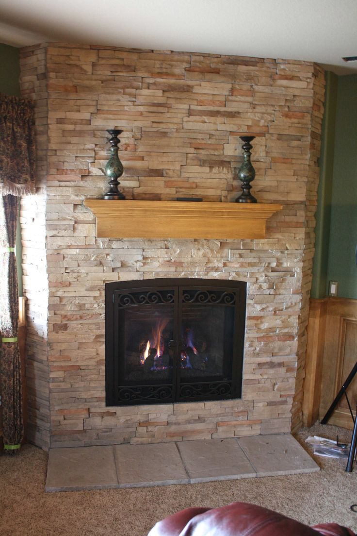 Awesome Refacing A Fireplace 12 Reface Brick Fireplace With Stone  Fireplace in 2019  Reface