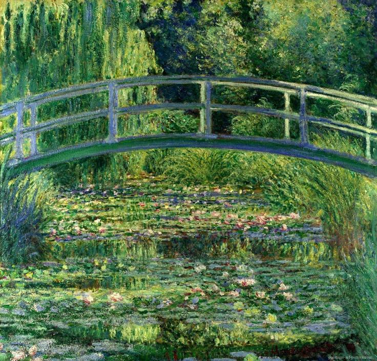 Claude Monet    Nilüfer Havuzu / The Water-Lily Pond    1899. Tuval üzerine yağlıboya. 90 x 90 cm. Princeton University Art Museum, Princeton.