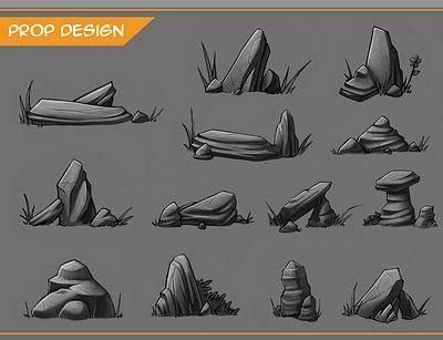 SteP oFf iNt0 tHe DeEp: Rocks, Game Environment asset creation