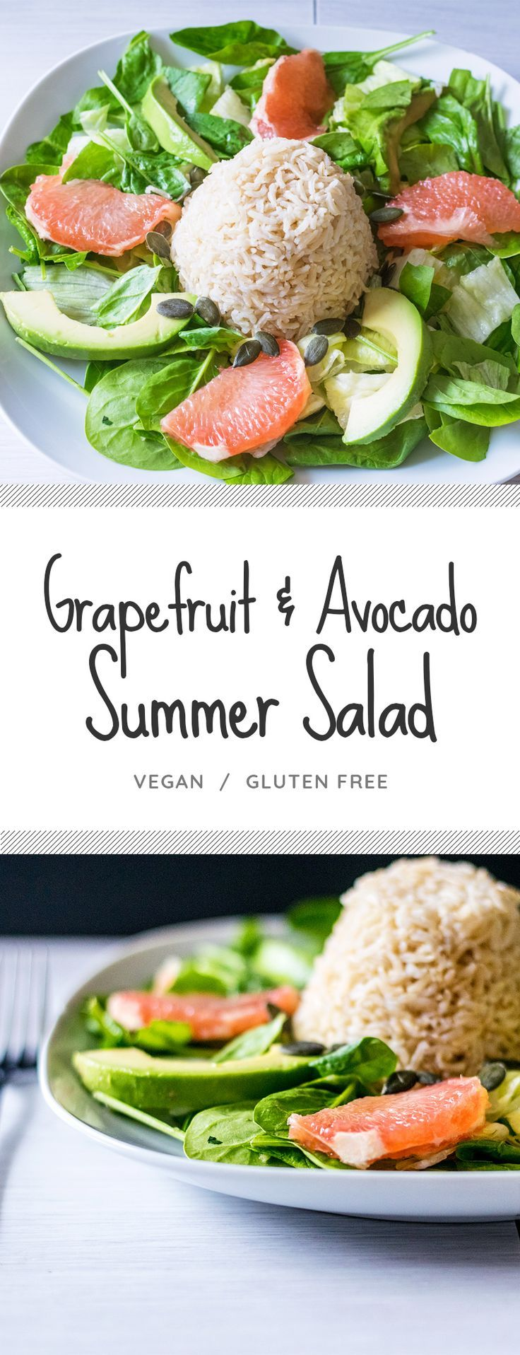 This healthy grapefruit & avocado salad is a great easy lunch for work, or a super quick and simple,…