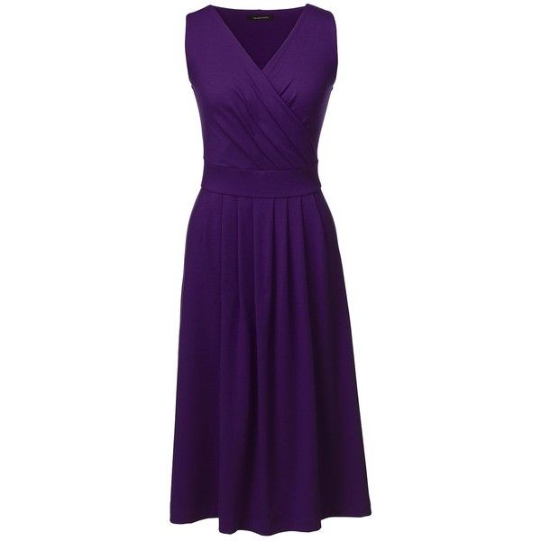 Lands' End Women's Petite Fit and Flare Dress ($55) ❤ liked on Polyvore…