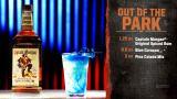 bar rescue drinks!   Out of the park quarter ounce blue curacao  1.25 ounce pina colada mix  3 ounce captain morgan