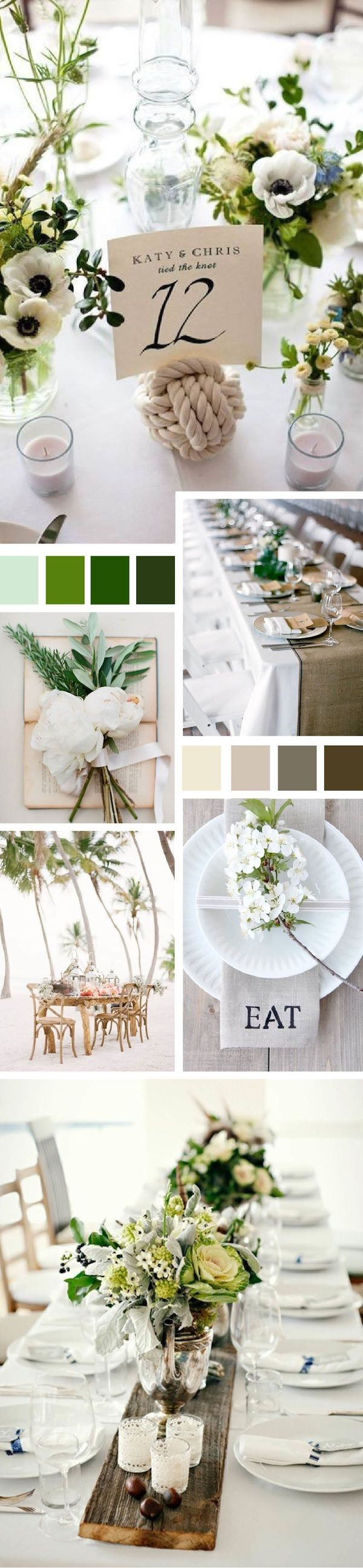 Beach table-setting
