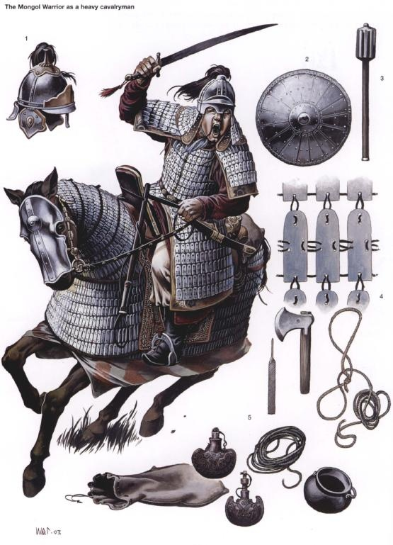 A Mongol Warrior. They were very good warriors, and conquered much of Asia in a very short time.