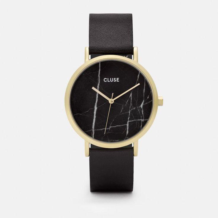 CLUSE La Roche Gold Black Marble/Black CL40004