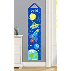Olive Kids Personalized Out Of This World Canvas Growth Chart