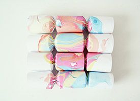 DIY: marbled paper (in French) from Etsy's french blog.