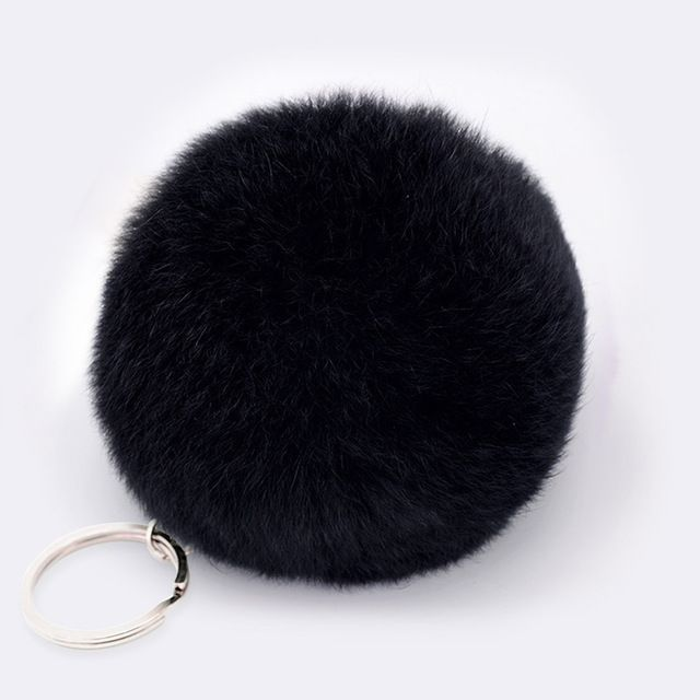 $.83  eaZoeber Lovely Fluffy Rabbit Ear Fur Anime Ball Key Chain Rings Pendant Cute Pompom Artificial Rabbit Fur Keychain Women Car Bag-in Key Chains from Jewelry & Accessories on Aliexpress.com | Alibaba Group