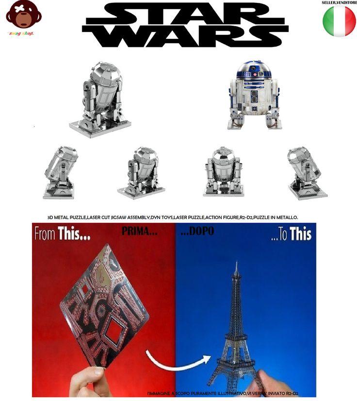 metal puzzle toys 3D,laser cutter,R2-D2,nano puzzle,action figure,modellino,new. 10,49€ con spedizione,Nuovo come da foto ottima idea regalo. metal puzzle toys 3D,laser cutter,R2-D2,nano puzzle,action figure,modellino,new. METAL PUZZLE TOYS 3D  ACTION FIGURE RD-D2 STAR WARS SERIES.  Originale modellino in 3D dedicato al mitico r2-d2 della saga star wars e' realizzato su foglio in acciaio metallico intagliato a laser. con effetto 3D,perfetto in ogni suo dettaglio.una volta terminato il vostro…