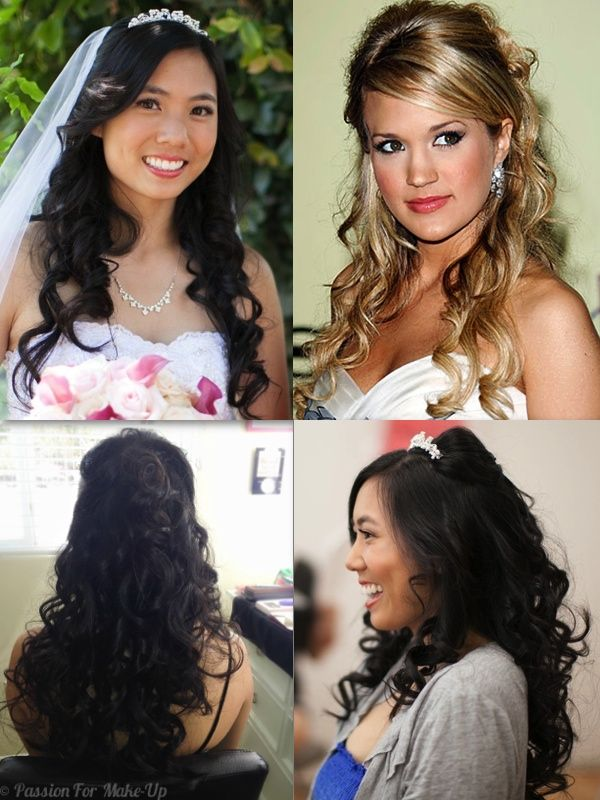 Wedding Hairstyle Carrie Underwood Inspired Half Up-Half down  For more bridal hair inspiration, follow us on Facebook www.facebook.com/passionformakeup   #weddinghair #bridesmaidhair #bridehair #bridalhair #weddinghairstyle #bridalhairstyle #bridehairstyle #weddingupdo #celebrityinspiredhairstyle #celebrityweddinghair #celebritybridalhair