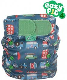 Frugi Easyfit V4  Transport Print Binky Birth to Potty Nappy