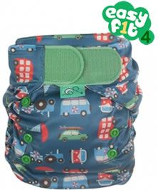 Frugi Easyfit V4  Transport Print Binky Birth to Potty Nappy