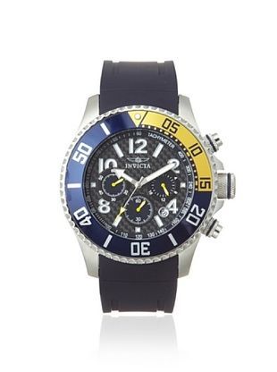 Invicta Men's 13728 Pro-Diver Navy Blue/Black Textured Polyurethane Watch