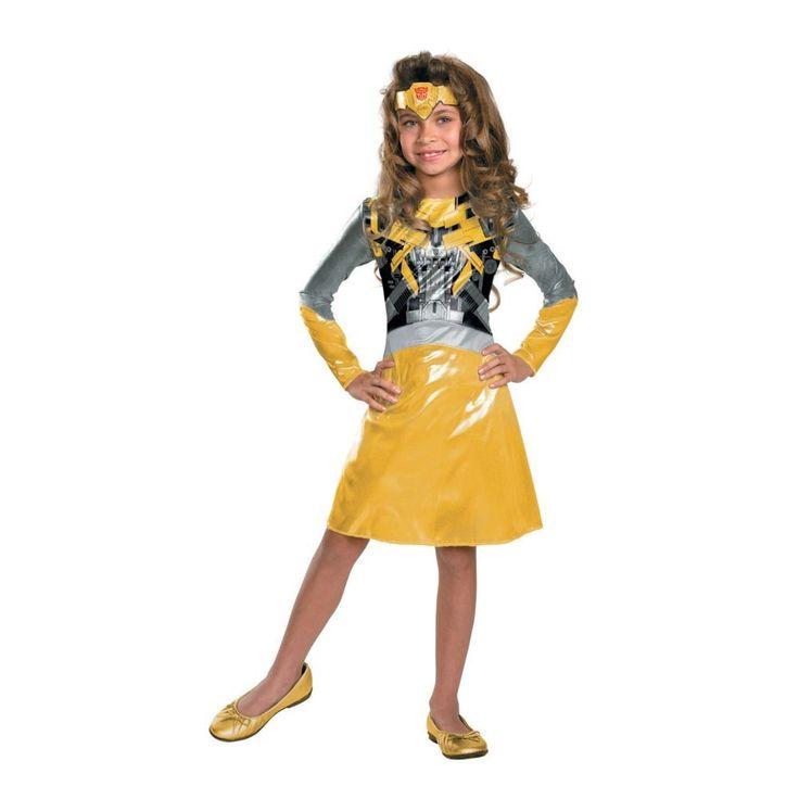 Bumblebee Transformers Girls Halloween Costume - Small